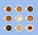 创意咖啡俯视图