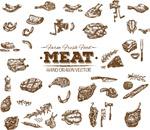 手绘肉类产品