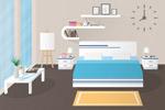 卧室空间矢量
