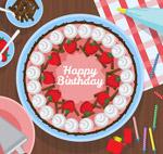 生日蛋糕俯视图