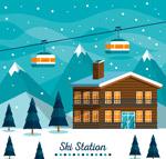 雪中的滑雪场