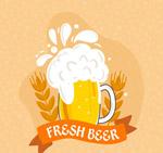 新鲜啤酒和大麦