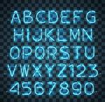 霓虹样式字母
