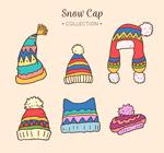 冬季花纹帽子