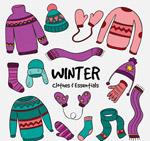 花纹冬季衣物