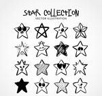 16款手绘星星