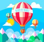 旅行热气球矢量