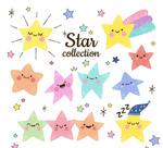 彩绘可爱表情星星