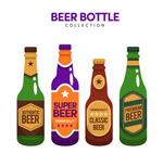 瓶装啤酒矢量