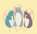 彩绘3只老鼠