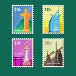 标志性建筑邮票