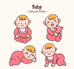 粉色婴儿设计