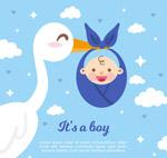 送子鹤和婴儿