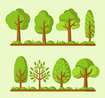 翠绿色树木设计