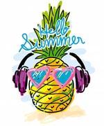 听音乐的菠萝