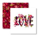 花卉爱的卡片