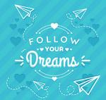 追随梦想艺术字