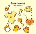 婴儿用品矢量