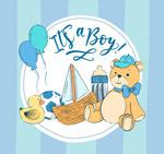 蓝色男婴玩具