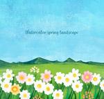春季花丛风景