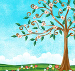 春季开满花的树
