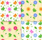 春季花朵无缝背景