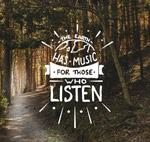 森林艺术字海报