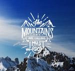 雪山风景海报