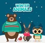 雪中的动物