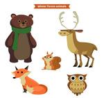 森林动物矢量