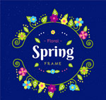 春季花环框架矢量