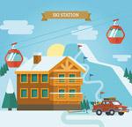 冬季度假滑雪场