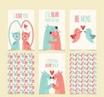 情人节动物卡片