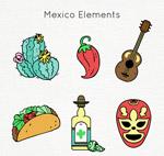 手绘墨西哥元素