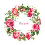 彩绘玫瑰花花环