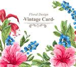 水彩绘花卉卡片