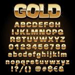 金色字母数字