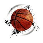 抽象动感篮球