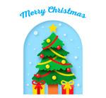 圣诞树和礼盒
