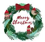 圣诞节花环和动物