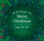圣诞新年贺卡矢量