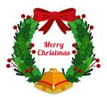 圣诞节冬青花环