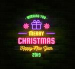 圣诞新年霓虹灯