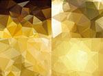 金色低多边形背景