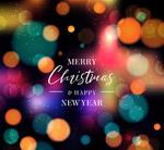 光晕圣诞新年贺卡