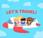 坐飞机旅行的人物