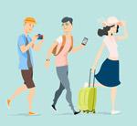 时尚旅行人物