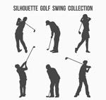 高尔夫动作剪影