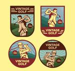 高尔夫球人物标签