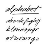 手绘小写字母艺术字